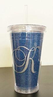 Initial Glitter  Cup
