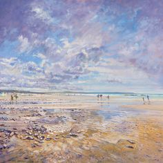 Laurence Dingley, Passing Clouds, #St.IvesBay #painting #maritimeart