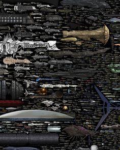 Spaceship Size Comparison Chart by Dirk Loechel