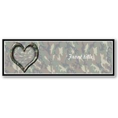 sold!  #Camouflage #Woodland Forest Heart on #Camo Business Card  by #Camouflage4you shipping to Hedgesville, WV