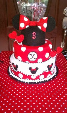 Minnie Mouse By Bonnie80 on CakeCentral.com