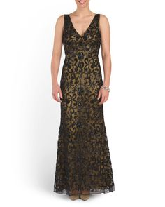 Hand Beaded Embroidered Gown - Maxx Flash Shop - T.J.Maxx