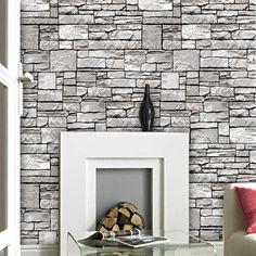 Ταπετσαρίες τοίχου με τρισδιάστατη εμφάνιση 3D, απομίμηση πέτρα διαστάσεων (10,05 Χ 0,53) 070603