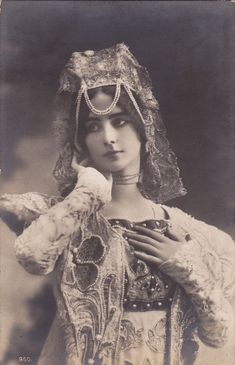Pre 1905 Beautiful Edwardian Dancer Cleo de Merode Original French Postcard | eBay