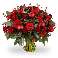 Rose Flower Arrangements, Christmas Flower Arrangements, Christmas Table Centerpieces, Christmas Decorations, Valentines Flowers, Christmas Flowers, Winter Flowers, Handmade Decorations, Flower Decorations