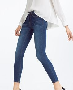 Image 2 of SKINNY MID-RISE TROUSERS from Zara