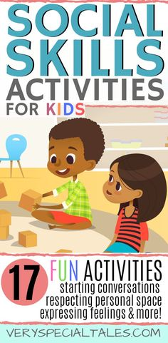 17 FUN & ENGAGING social skills activities for kids. Boost you child's socio-emotional development teaching them how to start conversations, express emotions, understand friendship, listen attentively / Social skills games / Social Skills Lessons Social Skills Autism, Social Skills Lessons, Social Skills For Kids, Autism Education, Social Skills Activities, Preschool Special Education, Social Emotional Learning, Learning Activities, Eyfs Activities