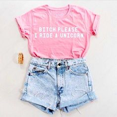 Unicorn Shirt  Bitch Please I Ride a Unicorn Pink by ArmiTee, $19.95