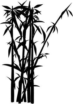 Vinilo silueta cañas de bambú