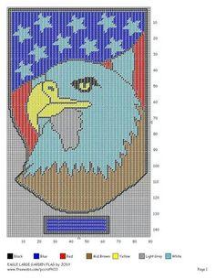 Lg eagle garden flag