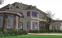 Eplans European House Plan - Five Bedroom European - 5351 Square Feet and 5 Bedrooms from Eplans - House Plan Code HWEPL74315