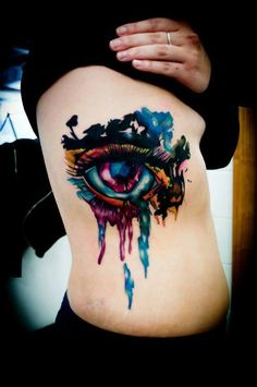 tattoo / aquarela / watercolor / eyes