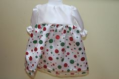 18 American Girl Doll White Satin with Red and Green by sewlucky42, $16.00