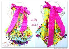 Ruffle Sunsuits - CUSTOM ORDERS welcome. @sisboom   fabrics  Custom Orders welcome   butterflybees@bigpond.com