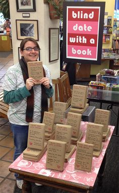 Once again, Blind Date with a book is a smashing success.  http://www.bookshopsantacruz.com/blind-date