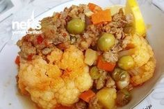 Cauliflower Meal with Vegetables - Delicious Recipes - # 3862021 Lunch Recipes, Crockpot Recipes, Chicken Recipes, Healthy Snacks, Healthy Recipes, Delicious Recipes, Fast Dinners, Turkish Recipes, Casserole Recipes