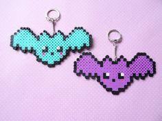 Pastel goth perler bead bat