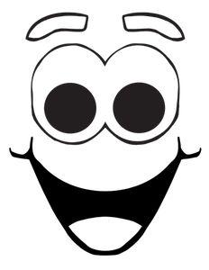 PublicDomainVectors.org-Disegno di fumetto viso sorridente vettoriale