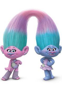 Сатинка и Синелька - персонаж мультфильма «Тролли» (Trolls)