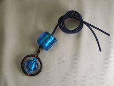 collana..riciclando un anello della tenda e del filo elettrico