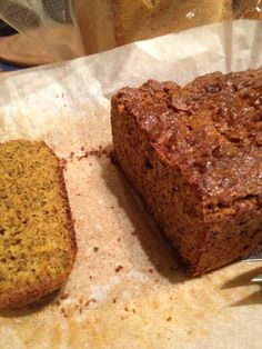 egg-less paleo Gingerbread cake- uses pumpkin but could prob sub banana if needed