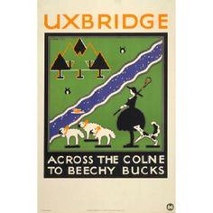 Vintage poster from London Underground.