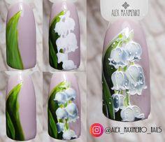 Este posibil ca imaginea să conţină: text Gel Nail Art, Nail Manicure, Diy Nails, Floral Nail Art, Arte Floral, Gel Nail Designs, Cute Nail Designs, Perfect Nails, Gorgeous Nails