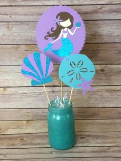 Mermaid Party Centerpieces Mermaid Under the sea ocean