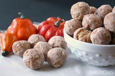 Homemade fried pumpkin doughnut drops