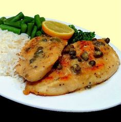 One Perfect Bite: Table for Two - Chicken Cutlets with Lemon Caper Sauce