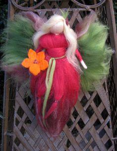 Callina Calla Fairy needle felted waldorf doll