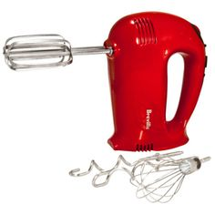 Breville® Red 16-Speed Hand Mixer. Christmas is coming and I hope to get this in stainless.