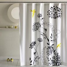 Anis Yellow Shower Curtain Shower Curtain - Bathroom Decor - Fabric Shower Curtains Collection