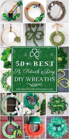 525581bd2ba9e 7 Best Diy st patricks day wreath images in 2019