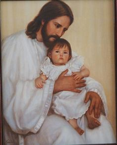 Jesus with Child - Jesus Gently and Compassionately Loves and Cares for a Little One. Let Him do the Same for You.