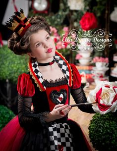 Queen of Hearts Costume Dress from Alice in Wonderland by EllaDynae on Etsy https://www.etsy.com/listing/222278082/queen-of-hearts-costume-dress-from-alice