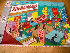 1964 Vintage Shenanigans Board Game Milton Bradley Carnival - I am not sure if this is the game I had, but I remember having te coolest carnival game.