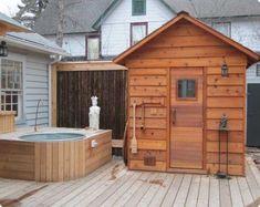 Diy Sauna, Sauna Ideas, Home Sauna Kit, Sauna House, Outdoor Sauna Kits, Building A Sauna, Indoor Outdoor, Outdoor Living, Outdoor Spa
