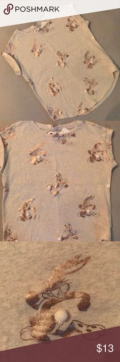 GAP Warner Bros.  Bugs Bunny Shirt, 10 Brand new with tags, little Pom poms for the tail. GAP Shirts & Tops Tees - Short Sleeve