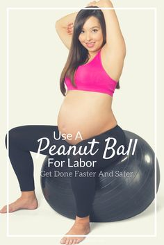 I never knew I could use a peanut ball to help speed up my labor and delivery when I had my baby. Even if you have an epidural, this is a must have! Get Pregnant Fast, Pregnant Diet, Getting Pregnant, Pregnancy Affirmations, Birth Affirmations, Pregnancy Labor, Pregnancy Workout, Labor Positions, Belly Dancing Classes