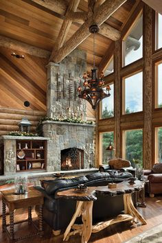 Hard to imagine that a more beautiful log home exists. . .