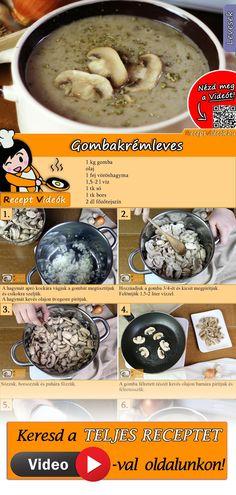 Cream Soup Recipes, Mushroom Soup Recipes, Easy Soup Recipes, Fall Recipes, Hungarian Recipes, Italian Recipes, Mushroom Cream Soup, Good Food, Yummy Food