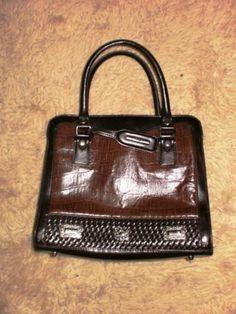 M C Marc Chantal Brown Purse Medium Sized Excellent Condition Ebay