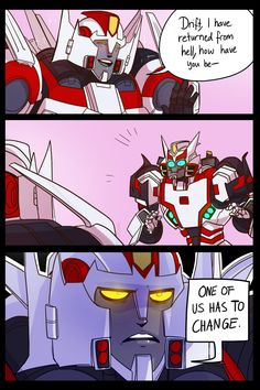 """herzspalter: """"Don't you just love it when you're dead for a bit and your BEST FRIEND steals your style? :))))) @chrismcfeely mentioned how close Drift's design is getting to Wing's and that's pretty..."""