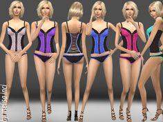 melisa inci's Lace Detail Bustier Set