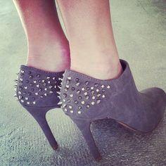 grey spike booties. #solesociety - @shoplaurennicole- #instagram