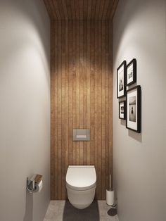 Small bathroom design idea with wooden accents - Decoist