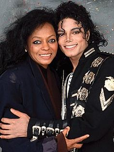 Diana Ross and Michael Jackson