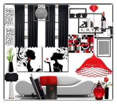 """""""Red Room"""" by bren-johnson ❤ liked on Polyvore featuring interior, interiors, interior design, home, home decor, interior decorating, Royal Velvet, Wendover Art Group, LSA International and Dot & Bo"""