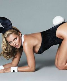 Kate Moss' First Playboy Pic Revealed